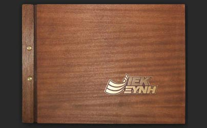 Folder wooden cover with bronze elements