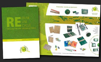 Catalog of products made of recycled materials