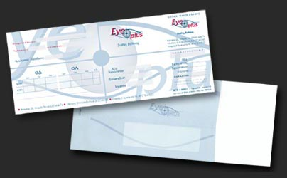 On demand envelope production for opticians